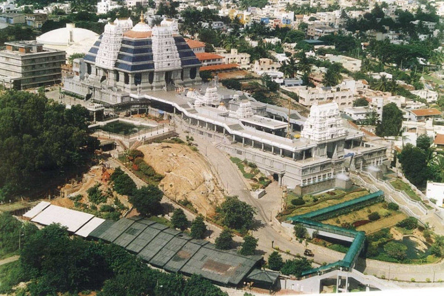 ಇಸ್ಕಾನ್ ಬೆಂಗಳೂರು ದೇವಸ್ಥಾನದ ಪಕ್ಷಿನೋಟ